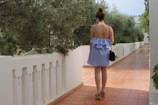 La robe à volants bleus #tunisie